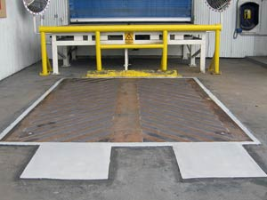 Belzona 4154 used to resurface loading bay and grip system applied