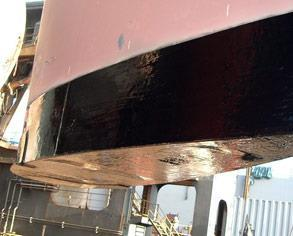 Rudder after the application of Belzona 2141