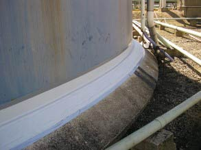 Breathable Belzona membrane applied preventing further water ingress