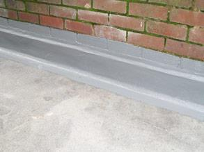 Belzona 3131 (WG Membrane) applied to seal the damaged area