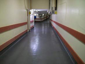 Hospital floor quickly repaired and protected using Belzona 5231 (SG Laminate)